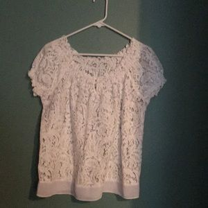 open lace top to go over camisole of any color